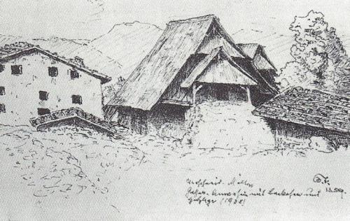 Old drawing of the Gasserhof